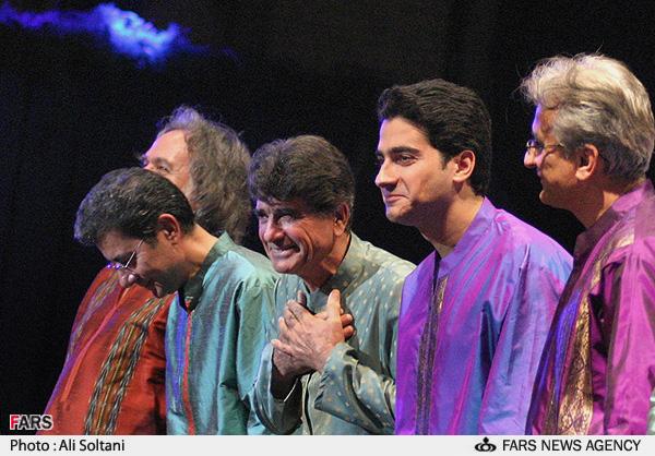 استاد شجریان و گروه آوا در کنسرت مرداد 186 تهران