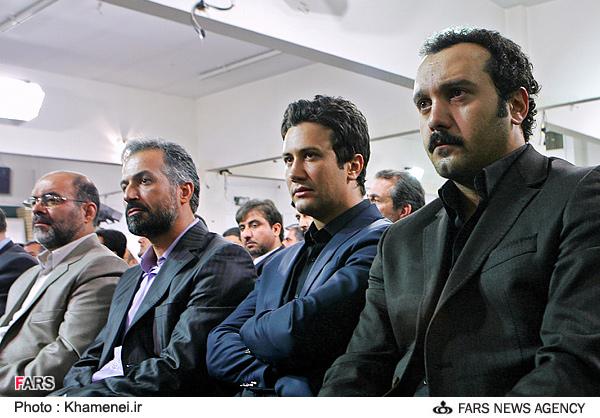 عکس :: افسانه بایگان،حمید لولایی،حسن جوهرچی و شهاب حسینی در دیدار با رهبری
