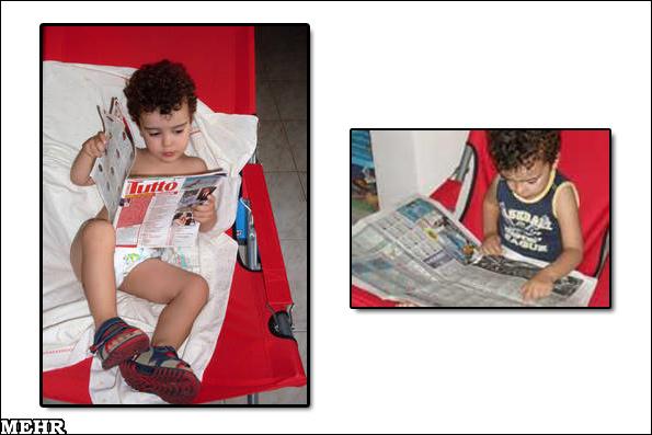 عکس زیبای یک کودک 3 ساله سیاستمدار!!