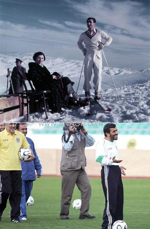 عكس: تفاوت هاي خانوادگی شاه و احمدی نژاد