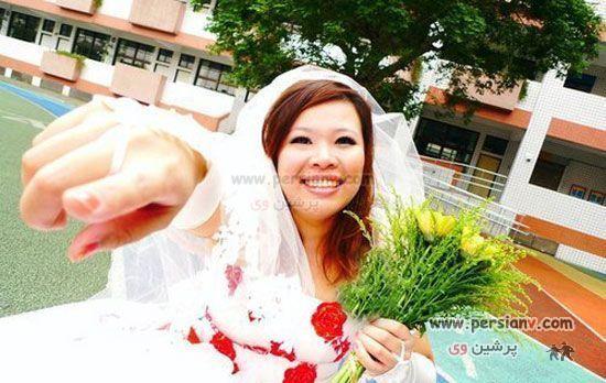 عکس های ازدواج عجیب دختر 30 ساله وقتی شوهر مناسب پیدا نکرد