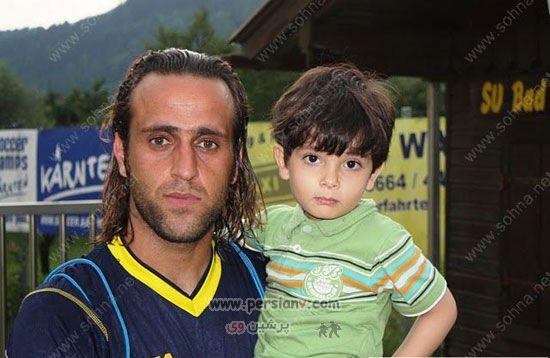 عکس دیدنی از علی کریمی و پسرش