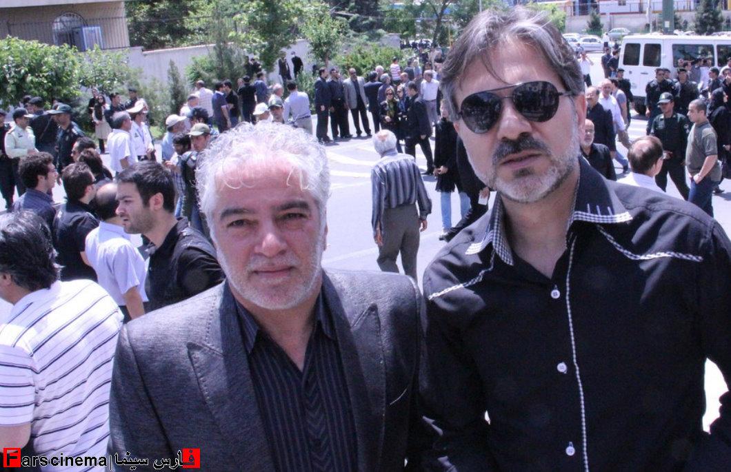 حضور هنرمندان در مراسم ختم ناصر حجازی + تصاویر
