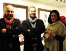 عکس های بازیگران مطرح سینما در نمایشگاه نقاشی