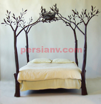 عکس: یک تختخواب دو نفره با صفا !