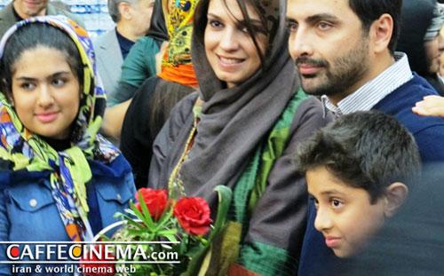 یک تصویرجالب از یک زوج سینمایی در افتتاحيه یک فيلم