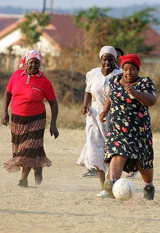 عکس : مسابقه فوتبال زنان !