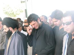 عکس : مراسم فوت پدر سـام درخشاني