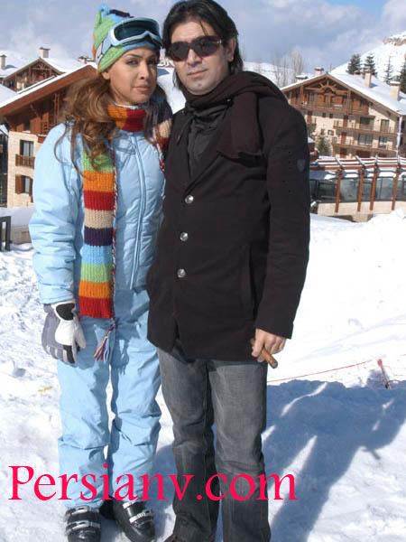 عکس : نوال زغبی  خواننده عرب به همراه همسرش
