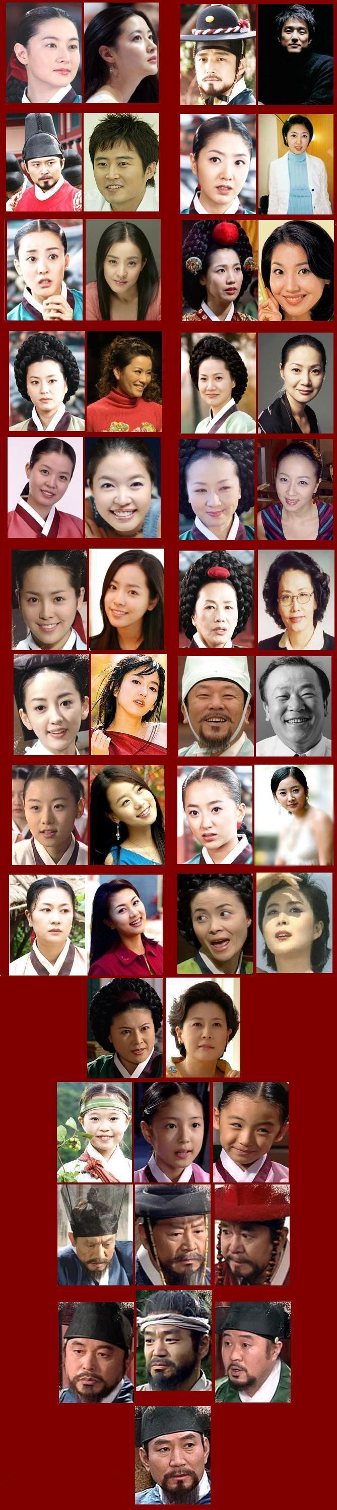 بازیگران جواهری در قصر در یک عکس