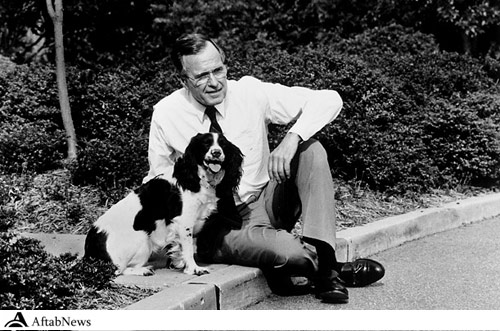 George H. W. Bush &amp Millie