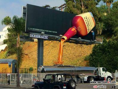 عکس : تابلوهای تبلیغاتی جالب و دبدنی در سطح شهر !