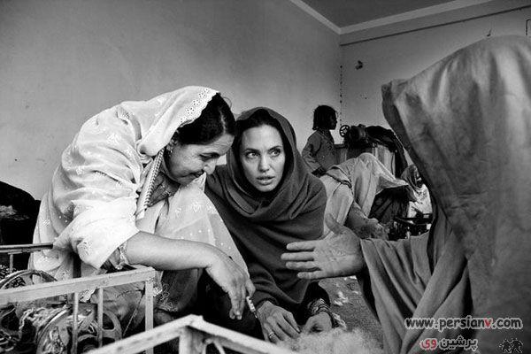 عکسهای دیدنی و جدید حضور آنجلیا جولی در افغانستان