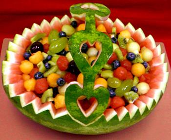 تاریخچه شب یلدا وعکس : تزئین هندوانه برای شب یلدا