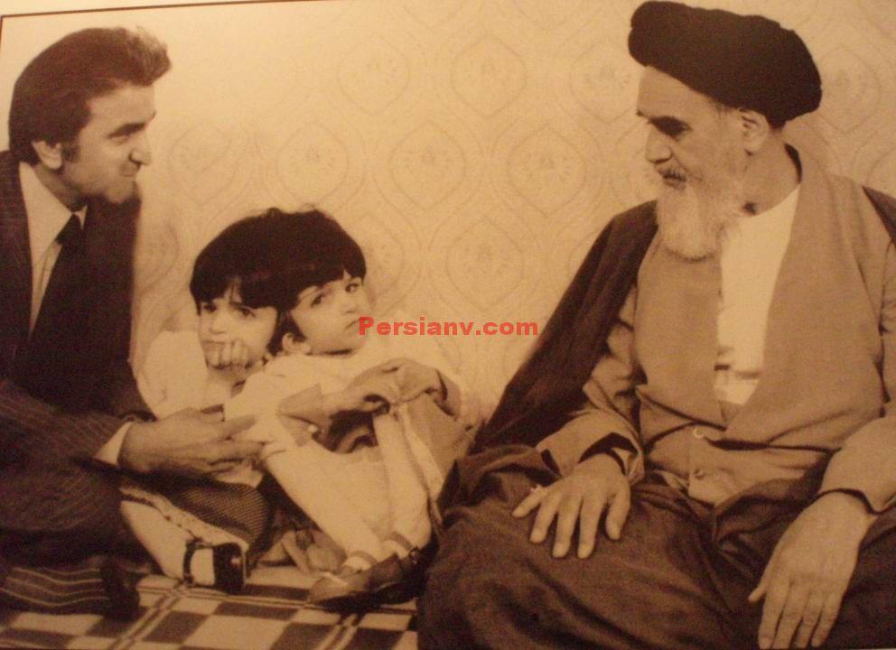 عکس : امام خمینی (ره) و لاله و لادن