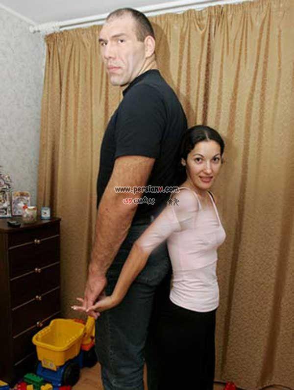 عكس وحشتناك ترين بوكسور روسيه در کنار همسرش !