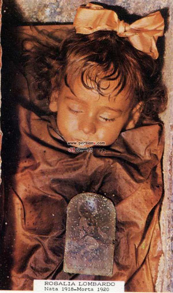 عکس :  جسد بسیار عجیب یک دختربچه در سرزمین مردگان ایتالیا!!