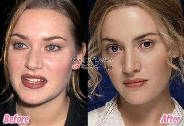 عکس جالب : هنرپیشه مشهورفیلم تایتانیک قبل و بعد از گریم
