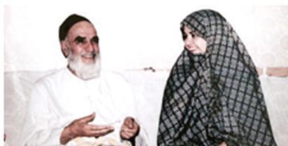 عکس: همسر رضا خاتمي کنار پدربزرگش