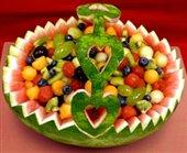 تصاویر:آشنایی با روش تهیه سبد میوه با هندوانه