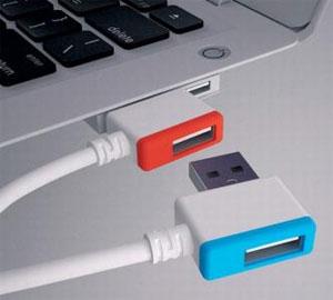 راهکاری جالب برای اتصال چندین کابل USB به لپ تاپ