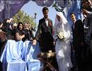 مراسم ازدواج دانشجویی در جوار مزار شهدا