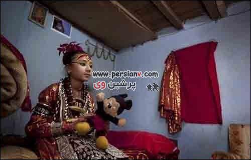 رفتار عجیب مردم نپال با دختران باکره! + تصاویر