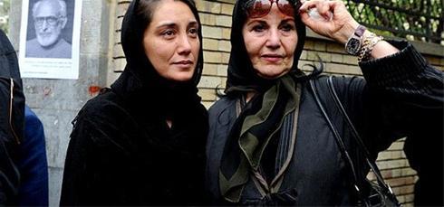 هدیه تهرانی و پوری بنایی در مراسم هفتم ناصر حجازی