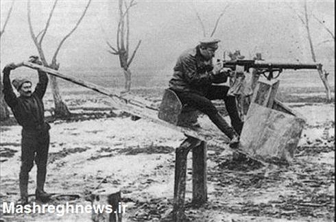 عکس:الاکلنگ بازی در میدان جنگ