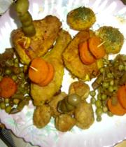 مرغ سوخاری با سبزیجات