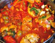 خورش مرغ و زیتون؛ غذایی لبنانی