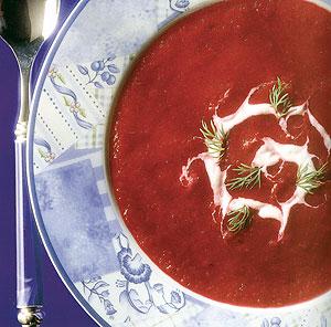 سوپ لبو خوشرنگ و خوشمزه