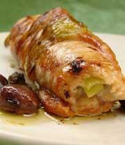 دلمه ی مرغ با کرفس و قارچ