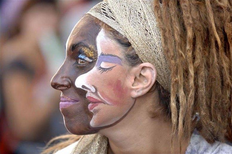 عکس دیدنی از یک زن دو چهره !