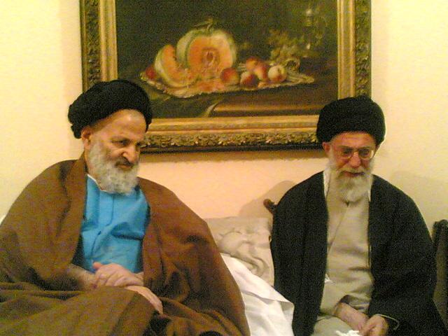 عکس: رهبرمعظم انقلاب و آیت الله سید مهدی خرازی