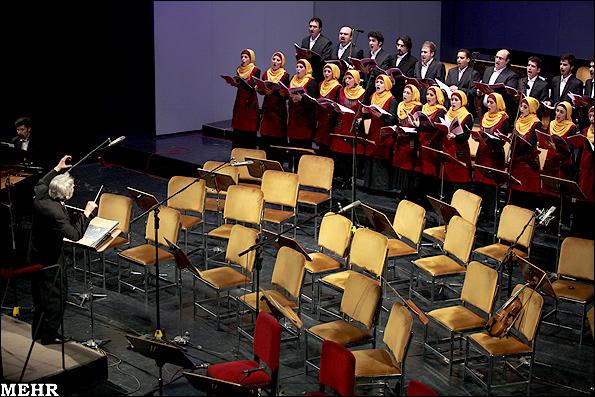 عکس:اجرای ارکستر و کر آکادمیا