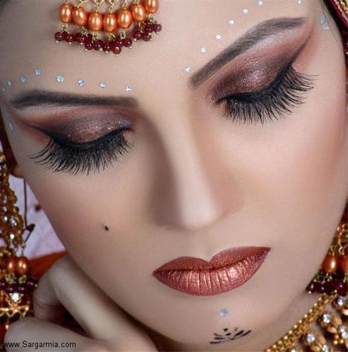 عکس:مدل آرایش عروس پاکستانی