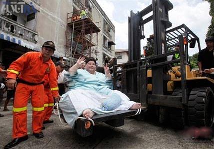 عکس: درآمدزایی تایلند از انسان 274 کیلویی