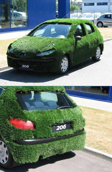 عکس: این ماشین  با سبزی تزیین شده