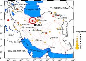 ايران در خط زلزله قرارگرفته است