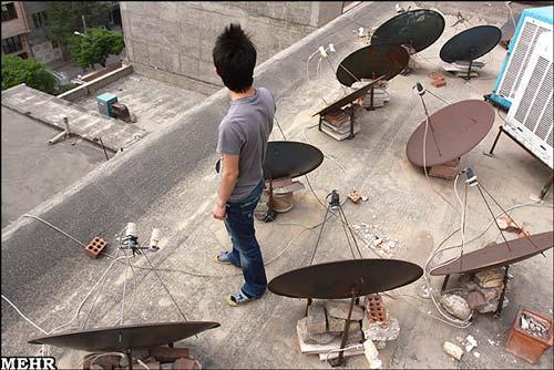 تصاویر: افزایش نصب آنتنهای ماهواره