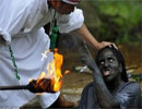 مراسم عجیب و غریب «جن گیری» در کلمبیا