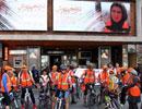 دوچرخهسواران نارنجیپوش مقابل سینما قدس !! / گزارش تصویری