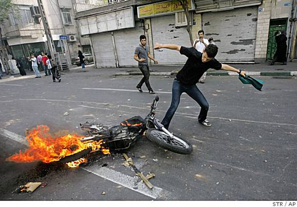 تصاویر رسانه های خارجی از آشوب های تهران