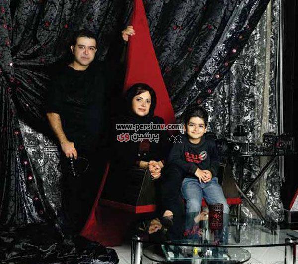 عکس جالب و دیدنی : کمند امیر سلیمانی ، همسر و پسرش