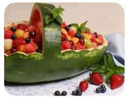 انواع تزیین هندوانه مخصوص شب یلدا
