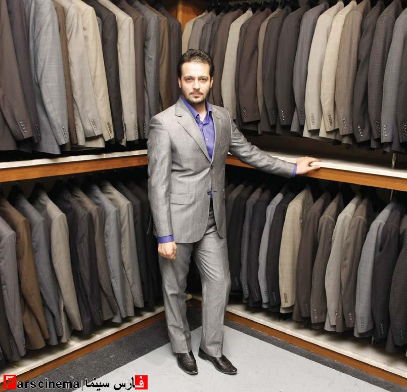 با محمد سلوکی در فروشگاه لباسش + عکس
