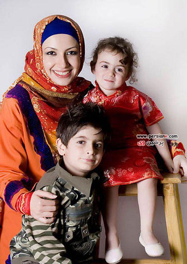 عکسهای برسام و آویسا ، خواهر زاده های محمدرضا گلزار به همراه ملیکا زارعی (خاله شادونه)