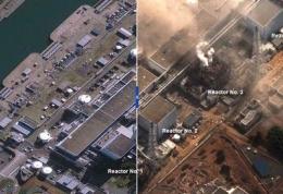 تصاویر: قبل و بعد زلزله و سونامی ژاپن <br />