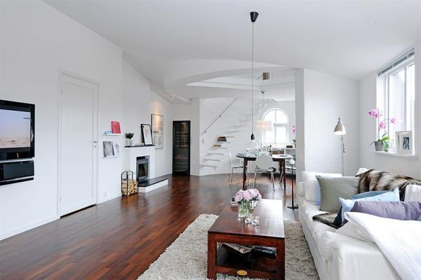 عکسهای دیدنی طراحی زیبا، شیک در آپارتمان سفید